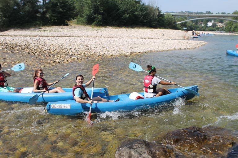 Recorrido del Descenso del Sella en canoa. Los Cauces MultiAventura.
