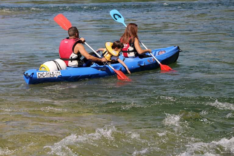 Descenso del río Sella con niños