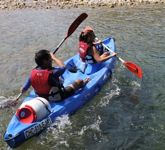 Bajar el Sella con canoas en Arriondas